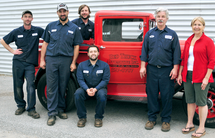 Staff at Red Truck Automotive